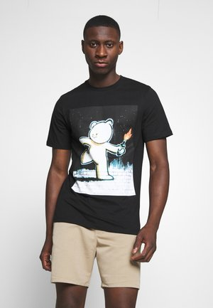 ONSBANKSY  - Print T-shirt - black
