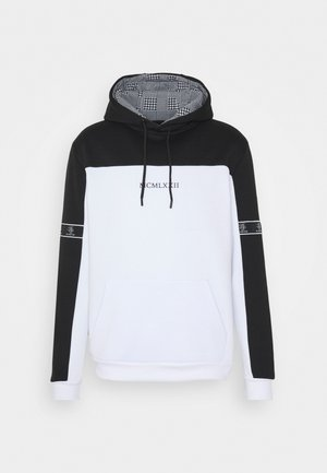 FULHAM - Hoodie - jet black / optic white