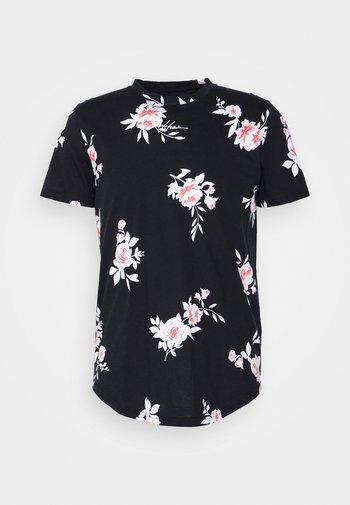 CURVED HEM PATTERN - T-shirt con stampa - black