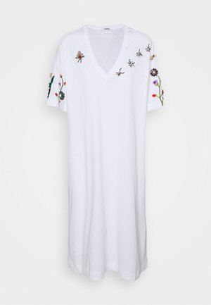 DRESS - Jersey dress - bianco ottico