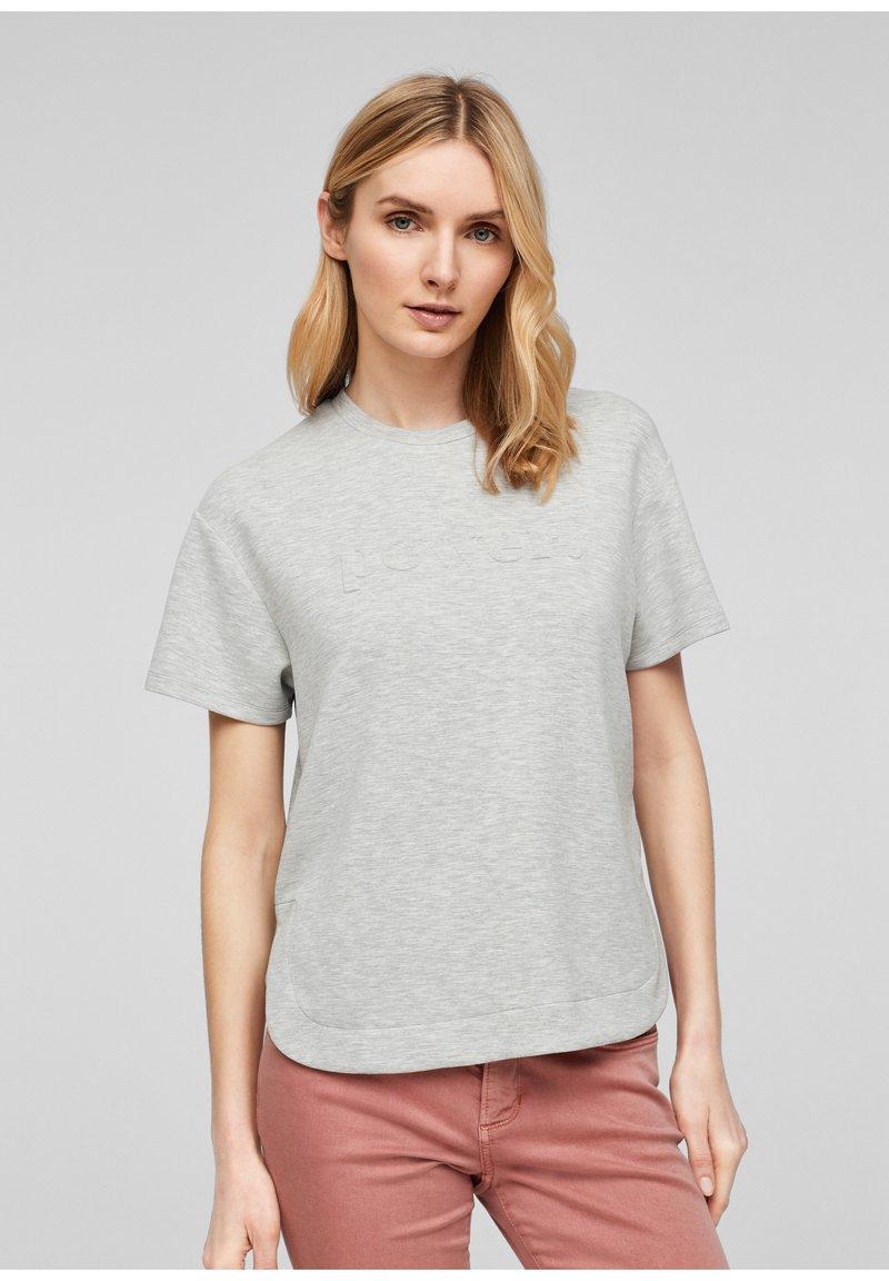 s.Oliver - T-shirt imprimé - gray