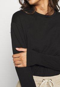 NA-KD - LONG SLEEVE BASIC - Long sleeved top - black - 5