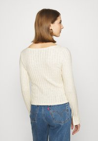 Nly by Nelly - BUTTON DOWN CARDIGAN - Cardigan - creme - 2