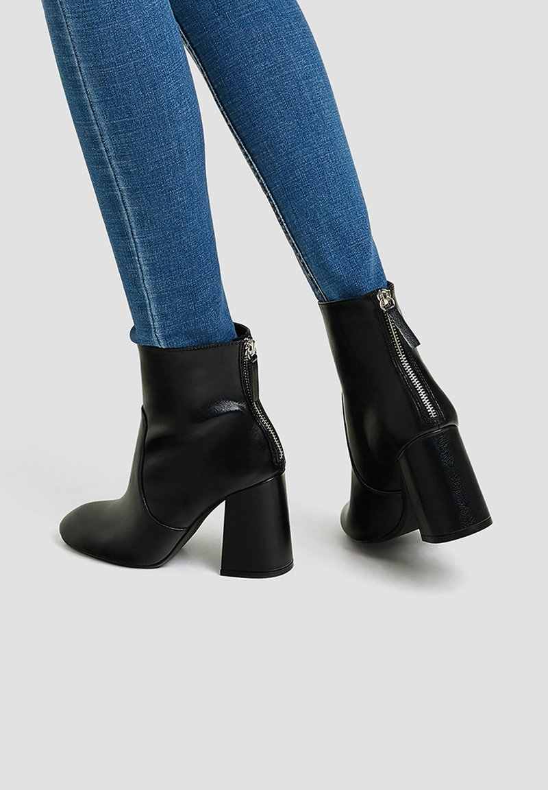 PULL&BEAR - Ankle boots - black