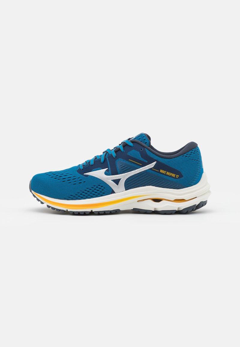 Mizuno - WAVE INSPIRE 17 - Stabiliteit hardloopschoenen - mykonos blue/silver/saffron