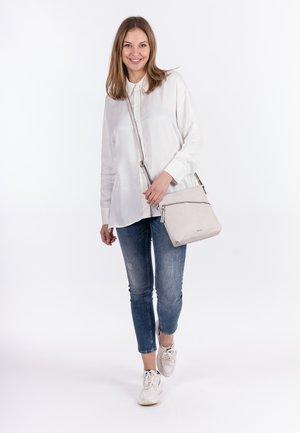 ALESSIA - Across body bag - mottled light grey