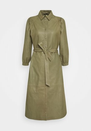 PETRAH ZIA DRESS - Shirt dress - deep olive