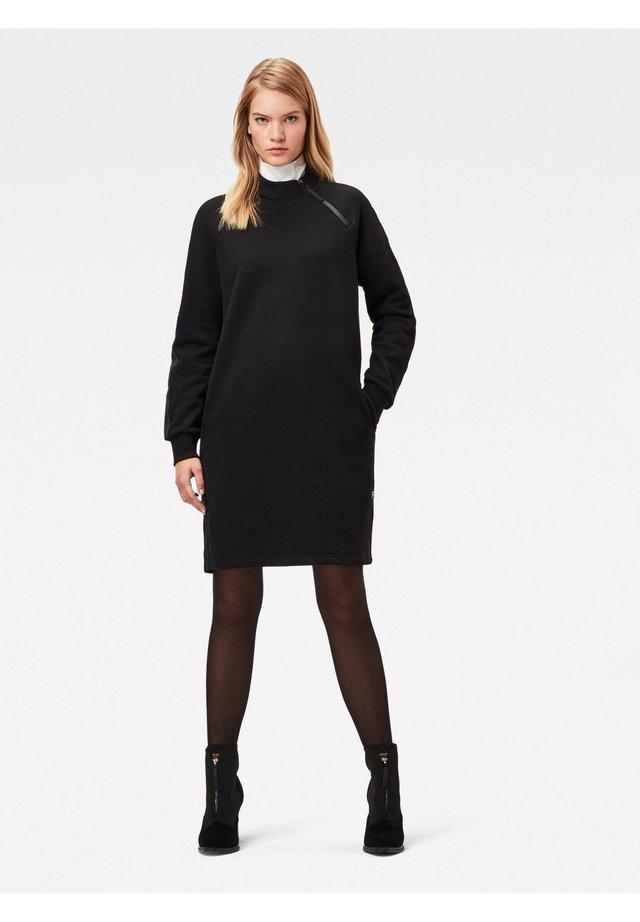MOCK NECK BF LONG SLEEVE - Day dress - dk black