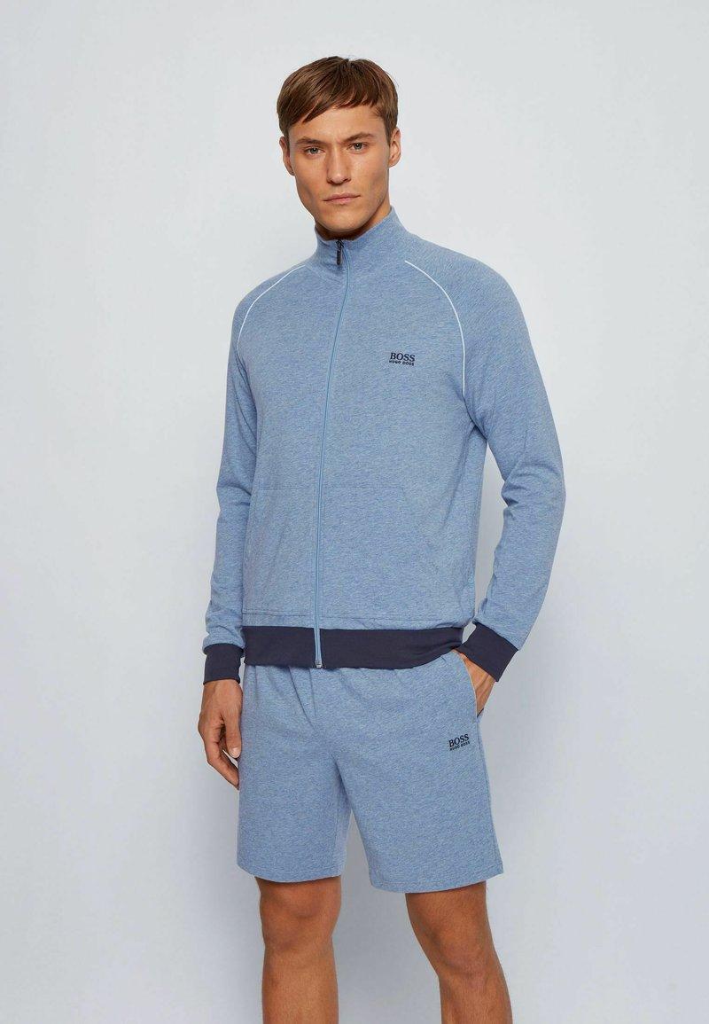 BOSS - Zip-up hoodie - open blue