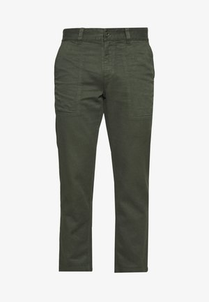 NINETY TWOS HEMP RELAXED FIT PANT MILITARY - Kalhoty - military
