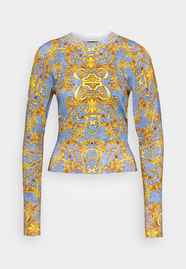 Stickad tröja - azzurro scuro