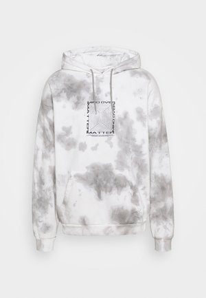 MIND OVER MATTER TIE DYE HOODY UNISEX - Huppari - white/grey