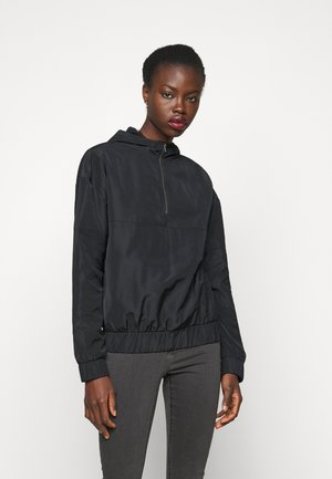 NMKAJA HOOD - Summer jacket - black