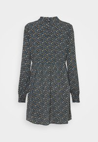 JDY - JDYPIPER SHORT DRESS - Kjole - black/spectra yellow/aquarius dit - 1