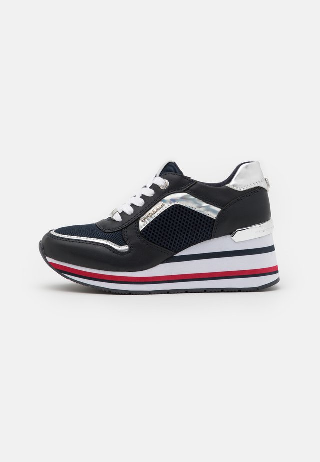 Sneakersy niskie - navy/silver