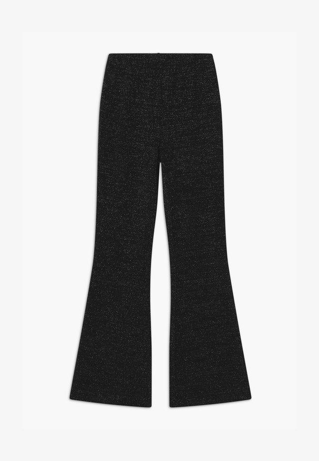 METTE GLITTER TRUMPET - Trousers - black