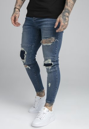 DISTRESSED PATCH - Jeans Skinny - midstone