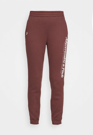 GARAMOND LOGO CLASSIC - Teplákové kalhoty - burgundy