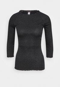 Long sleeved top - black/metallic