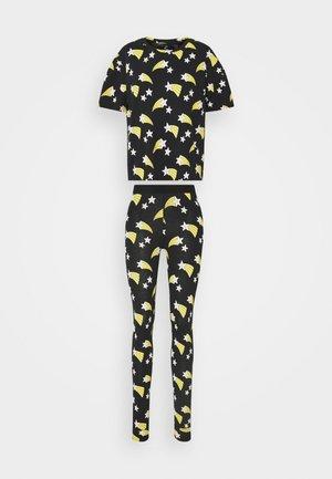 NIGHT SOU JULIA SET - Pyžamo - black