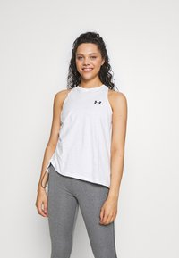 Under Armour - CHARGED TANK - Tekninen urheilupaita - onyx white/black - 0