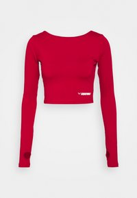 SQUATWOLF - WARRIOR CROP TEE - Long sleeved top - red - 4