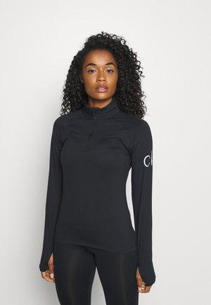 VIBE HALF ZIP LAYERING - Long sleeved top - black
