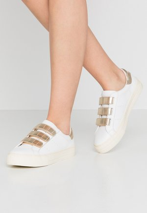 ARCADE STRAPS - Baskets basses - white/gold