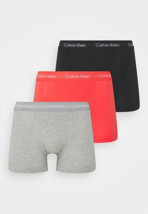 TRUNK 3 PACK - Panty - black/grey heather/punch pink