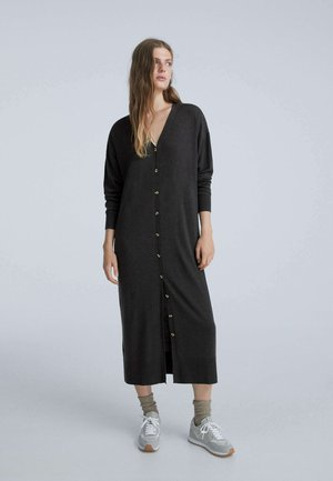 LONG BUTTONED - Jersey dress - black