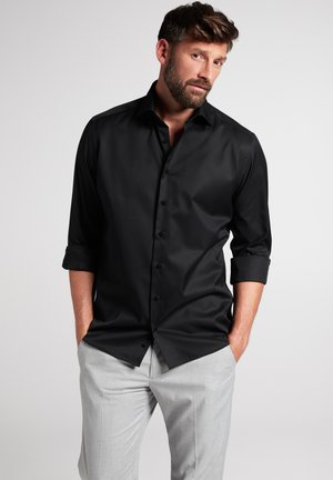 FITTED WAIST - Formal shirt - schwarz