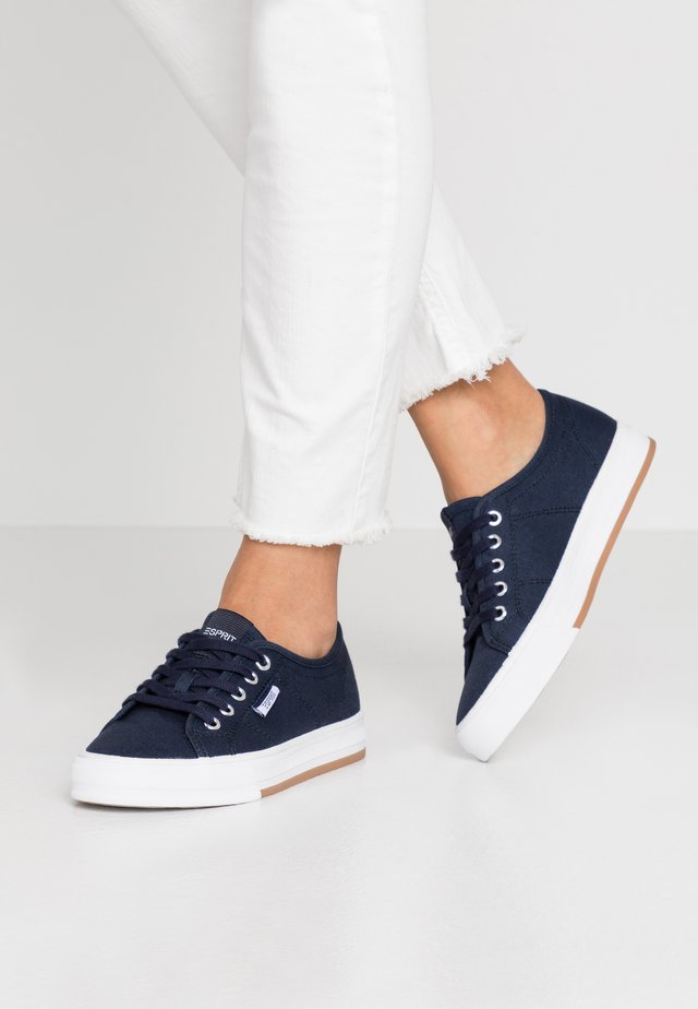 SIMONA LACE UP - Trainers - navy