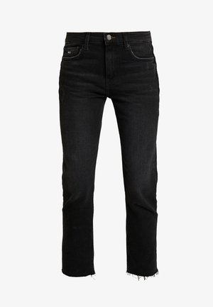 IZZY HIGH RISE SLIM ANKLE  - Slim fit jeans - black denim