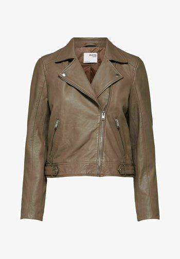 SLFKATIE JACKET - Leather jacket - fossil
