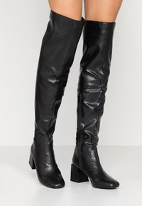 Dorothy Perkins - LOLA SKYE LAELA HIGH SHAFT BOOT - Kozačky nad kolena - black - 0
