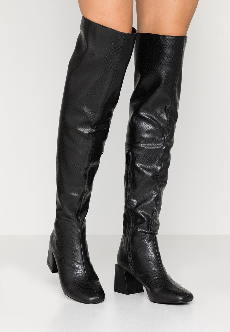 Dorothy Perkins - LOLA SKYE LAELA HIGH SHAFT BOOT - Kozačky nad kolena - black