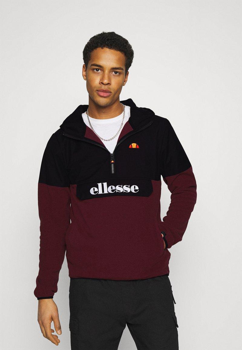Ellesse - FRECCIA - Fleece jumper - black/burgundy