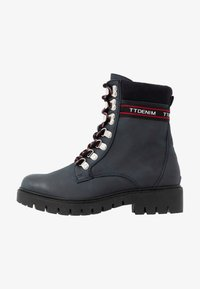 TOM TAILOR DENIM - Lace-up ankle boots - dark blue - 1