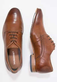 Salamander - STEEL - Smart lace-ups - cognac - 1