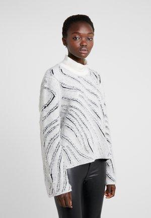 ZEBRA FRINGE - Jumper - off-white
