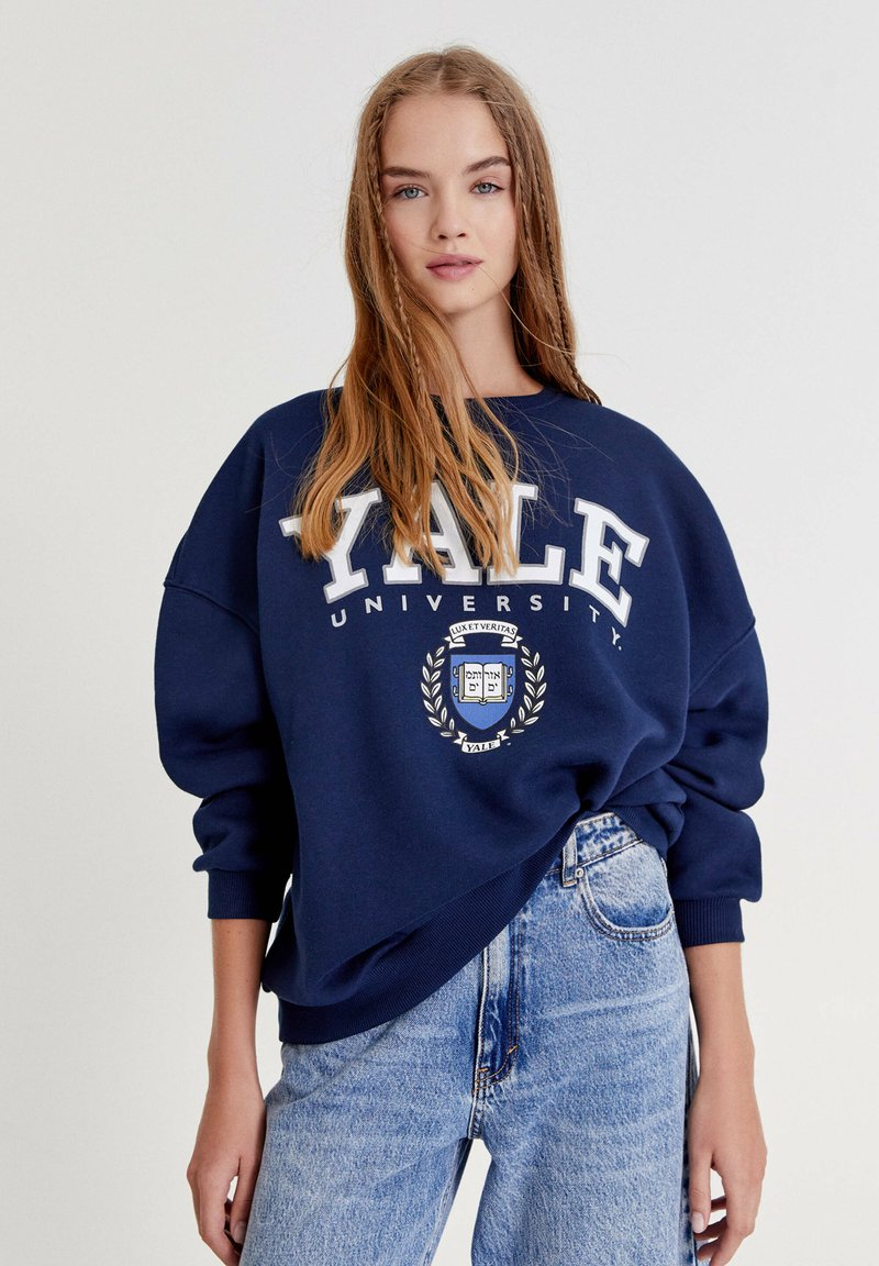 "PULL&BEAR - ""YALE"" IM COLLEGE-STIL - Bluza - dark blue"