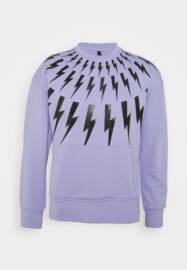 THUNDERBOLT - Sweatshirt - lilac/black