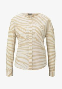 mine to five TOM TAILOR - FLIESSENDE MIT ZEBRA-MUSTERUNG - Button-down blouse - ecru zebra design - 4