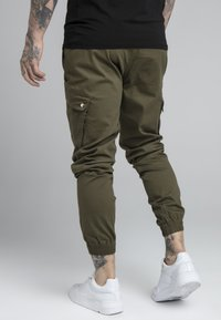 SIKSILK - FITTED CUFF PANTS - Cargobyxor - khaki - 2