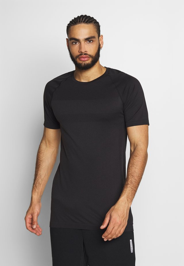 JCOZSS SEAMLESS TEE - T-shirt - bas - black