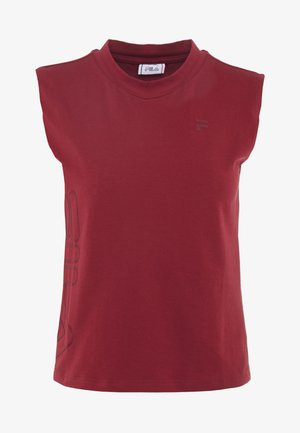 CROPPED TANK - Top - rhubarb