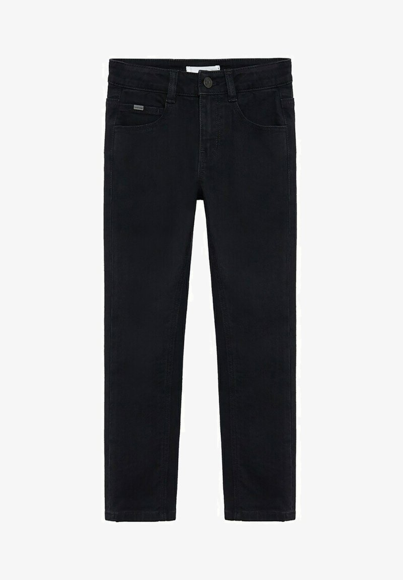 Mango - REGULAR - Straight leg jeans - black denim