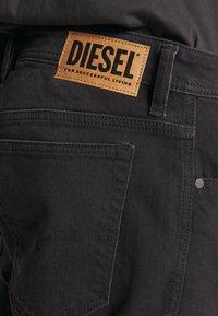 Diesel - THOSHORT - Szorty jeansowe - black - 4
