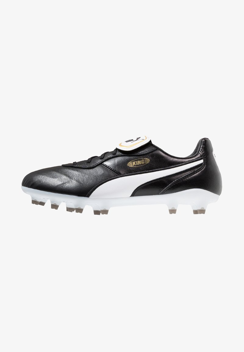 Puma - KING TOP FG - Moulded stud football boots - black/white