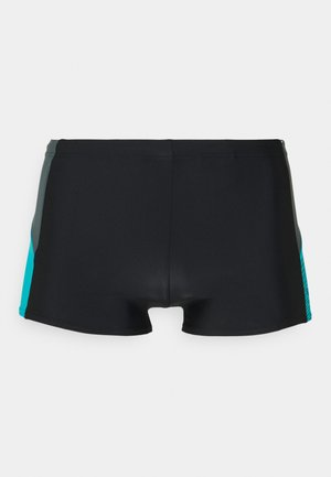 DIVE ASHT AM - Swimming trunks - black/usa charcoal/hypsonicblu